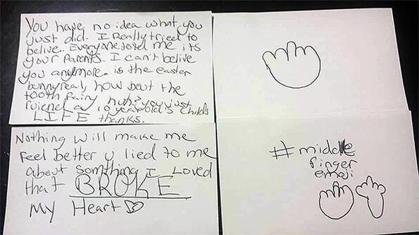 Гневното писмо на едно дете до Дядо Коледа