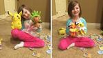 Малко момиченце си купи подаръци за 300 долара, докато майка му спеше