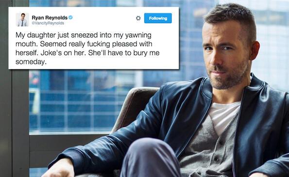 Най-добрите онлайн майтапи на краля на Twitter Райън Рейнолдс