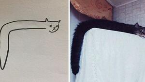 Твърде реалистични рисунки на котки