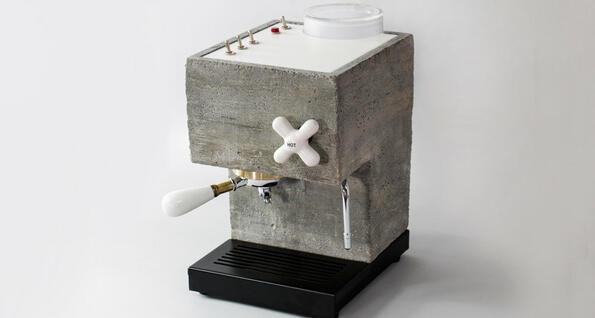Най-доброто за мъжкото леговище: кафемашина... от бетон!