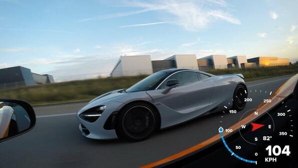 Зрелищно! Два броя McLaren в гонка на магистралата!