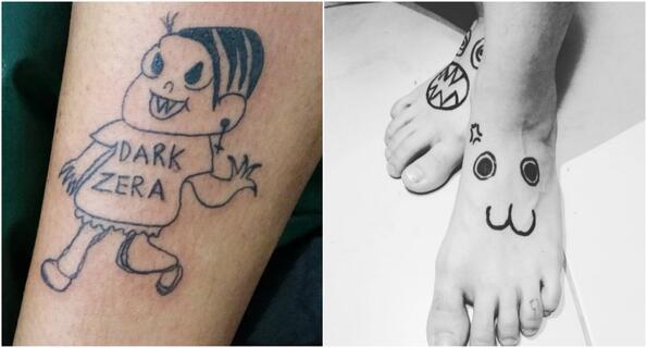 Запознайте се с най-лошия татуист на света
