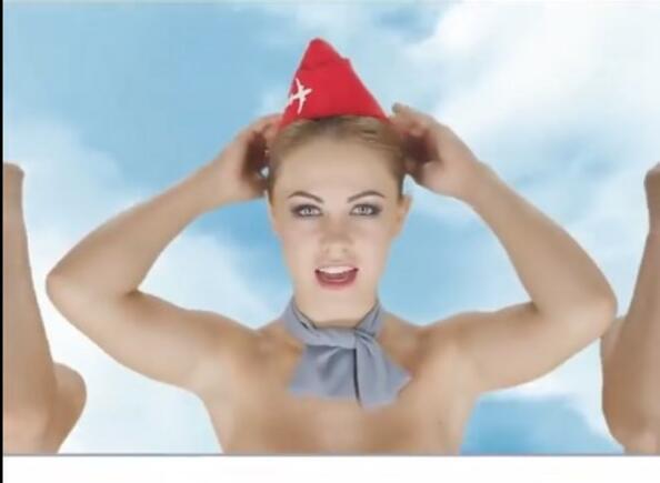 Голи момичета в реклама на самолетни билети