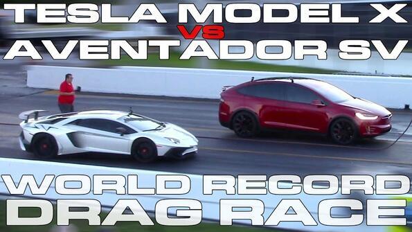 Tesla Model X победи Lamborghini и постави нов световен рекорд!