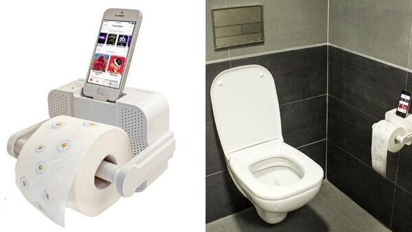 Глупост на месеца: поставка за тоалетна хартия с док станция за iPhone!