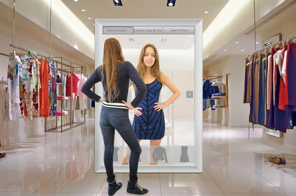 Амазон създава огледало, което позволява да пробваме виртуални дрехи