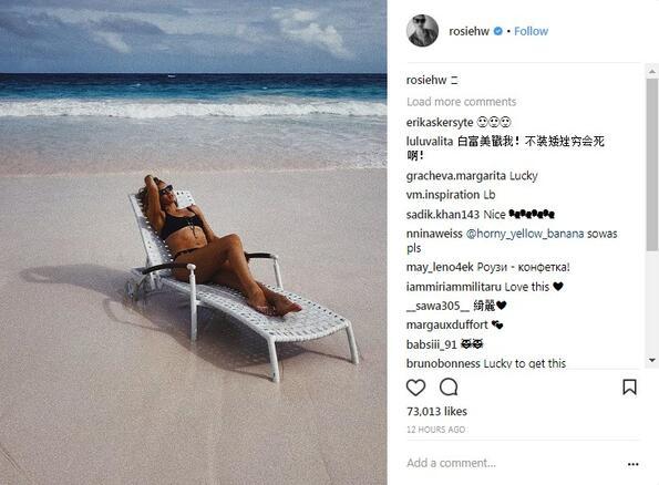 Годеницата на Джейсън Стейтъм показа секси тяло на плажа