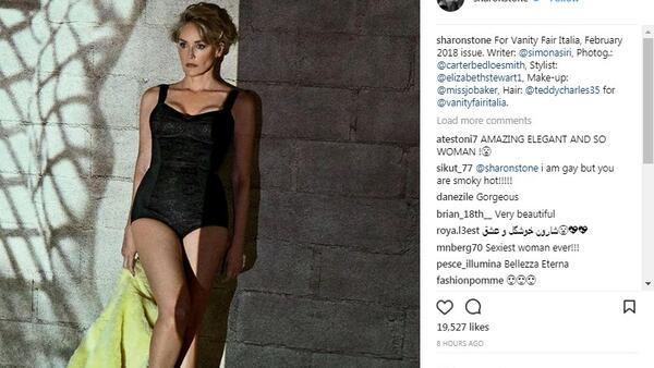 59-годишната Шарън Стоун е по-секси от всякога във фотосесия за Vanity Fair