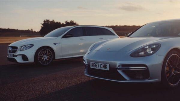 Суперкаручки бегачки: Porsche Panamera Turbo Sport Turismo срещу Mercedes-AMG E 63 S