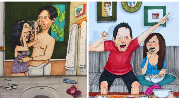 Зад закритата семейна врата: честни илюстрации какво ще ти се случи, ако заживееш с жена!