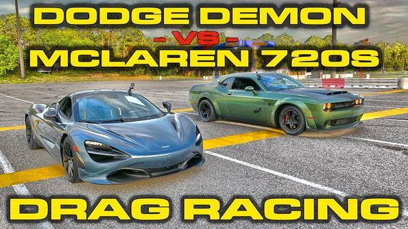 Битката на демоните: Dodge Demon срещу McLaren 720S
