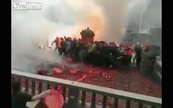 НЕ! Това не е терористичен атентат, а китайска сватба!