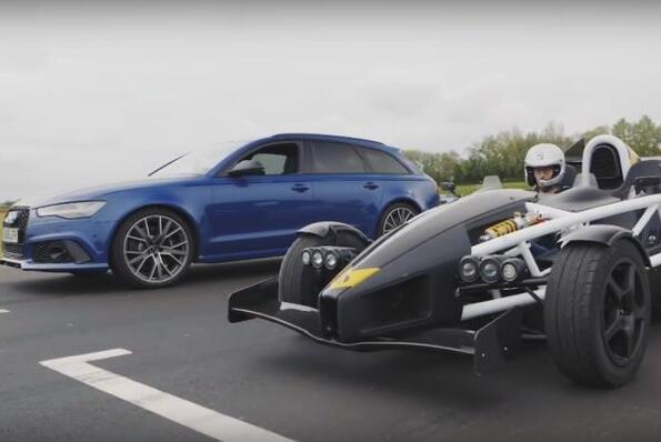 Битка на зверове: Audi RS6 Avant Vs Ariel Atom 3.5!