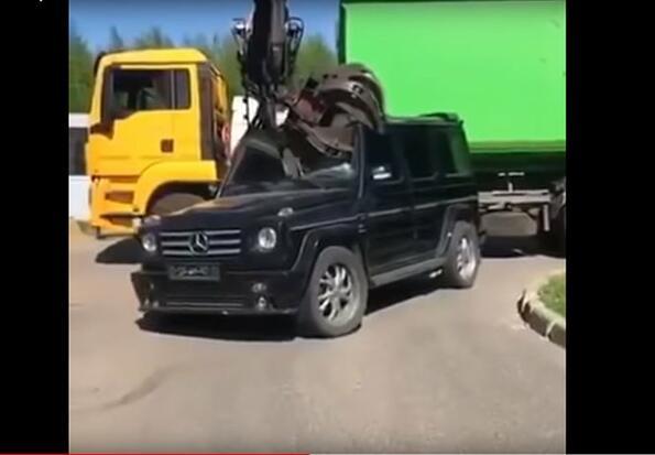 Истинска болка: унищожение на Mercedes Benz G classe за 1 минута!