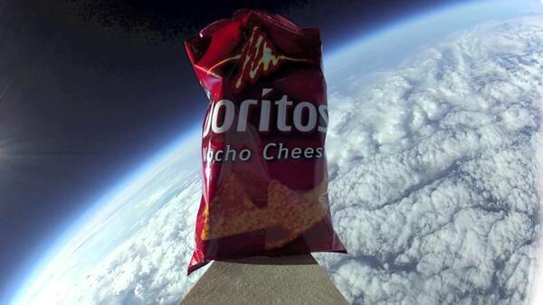 Doritos изпратиха реклама в космоса