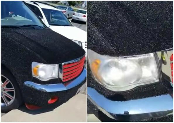 Неочаквана среща на паркинг: автомобил с килим?!