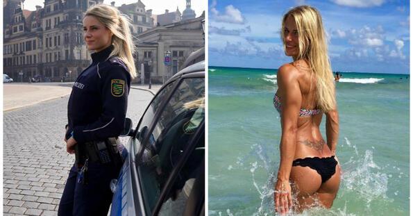 """<p style=""""text-align: justify;"""">Адриен Колесар е бивш полицейски комисар от Дрезден с меко казано приятно присъствие в социалните мрежи. Заради горещия си профил в Instagram, Адриен беше наречена """"най-секси полицейски служител"""", а нейните хиляди последователи не спират да я молят да бъдат арестувани.</p> <p style=""""text-align: justify;"""">Сори, пичове, но 33-годишната блондинка в момента е цивилна. Освен като представител на закона, Адриен се изявява и като фитнес модел, а в момента горещите снимки по бански не спират да валят. Ако можем да вярваме на Instagram профила й, в момента девойката се намира в САЩ, където явно смята да остане за през лятото.</p>"""