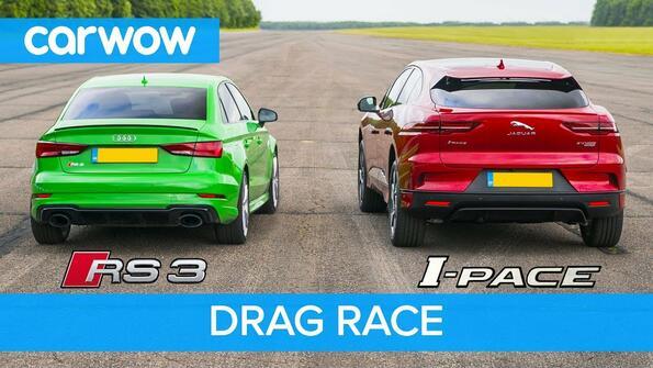 Jaguar I-Pace Vs Audi RS3: елктричество срещу бензин!