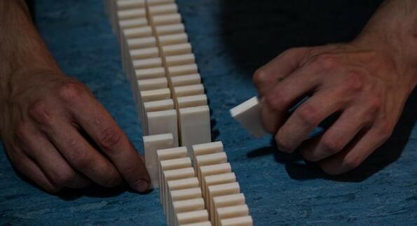 В Германия опитаха да поставят световен рекорд по бутане на домино, но една муха провали всичко
