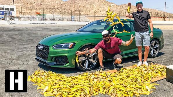 Може ли автомобил да се подхлъзне на банан?!