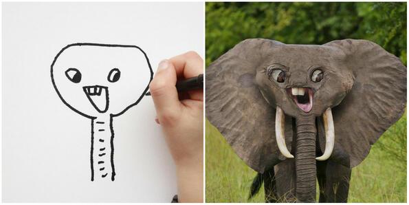 Баща създава с Photoshop рисунките на децата си