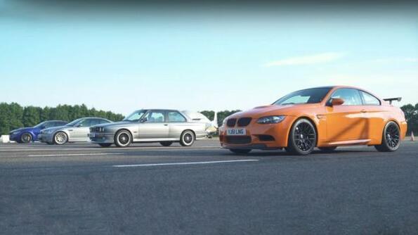 Епично състезание между 4 поколения BMW M3