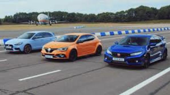Honda Civic Type R, Hyundai i30N и Renault Megane RS: показваме ти състезание