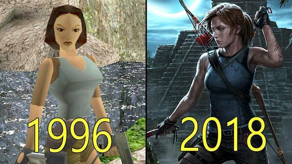 Еволюцията на игрите Tomb Raider в едно видео