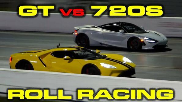 Титаничен сблъсък: Ford GT срещу Lamborghini Aventador!