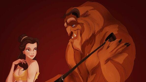 """Ако героите на Disney играят във филма """"50 нюанса сиво"""""""