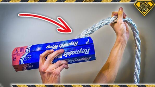 Направи си сам: метално въже от алуминиево фолио