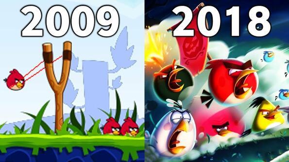 Как са еволюирали игрите Angry Birds!