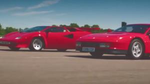 Lamborghini Countach излиза срещу Ferrari Testarossa!