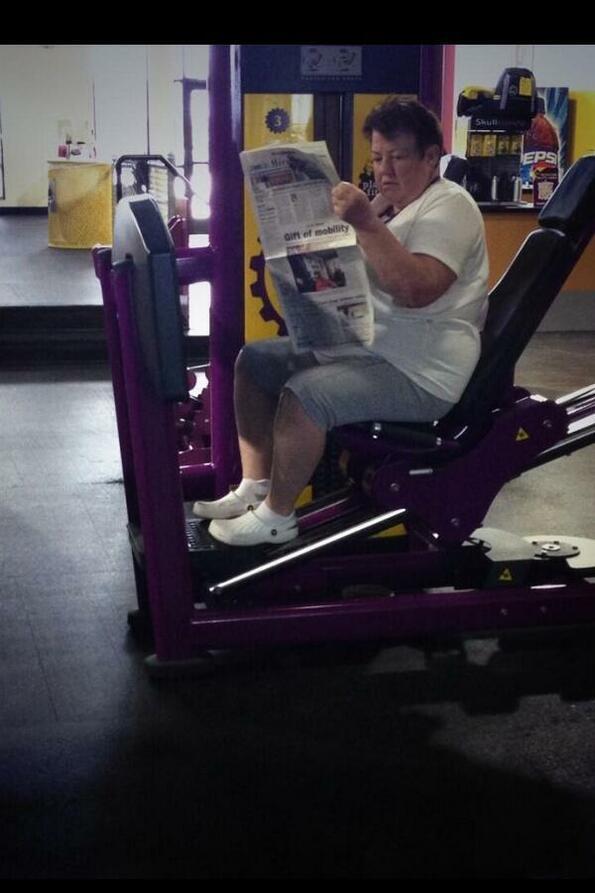 Когато има странни идиоти във фитнеса