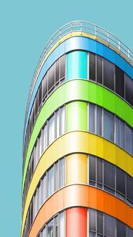 Скучни сгради, преобразени чрез Photoshop
